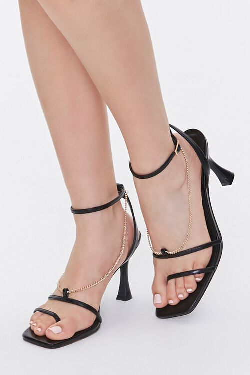 Chain Accent-Strap Heels, image 1