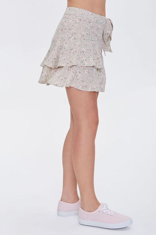 Floral Tulip-Hem Mini Skirt, image 4