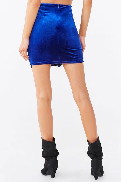 Ruched Velvet Mini Skirt, image 4
