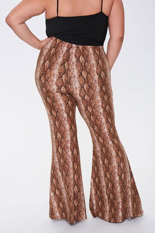 Plus Size Snake Print Jordyn Pants, image 4