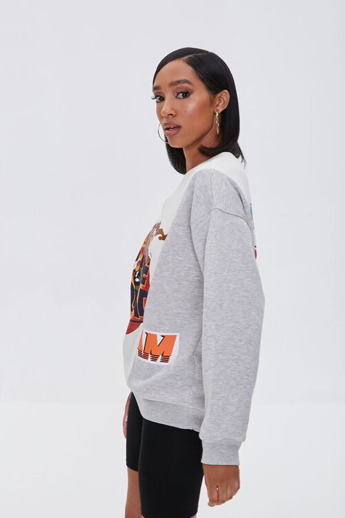 HEATHER GREY/MULTI Reworked Space Jam Pullover, image 2