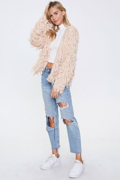 Shaggy Open-Front Cardigan, image 4