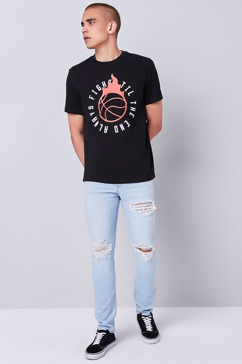 BLACK/RED Organically Grown Cotton Graphic Tee, image 4