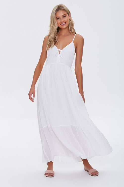 Plunging Maxi Cami Dress, image 1