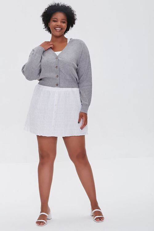 Plus Size Buttoned Cardigan Sweater, image 4