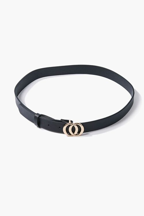 Faux Leather O-Ring Buckle Belt, image 2