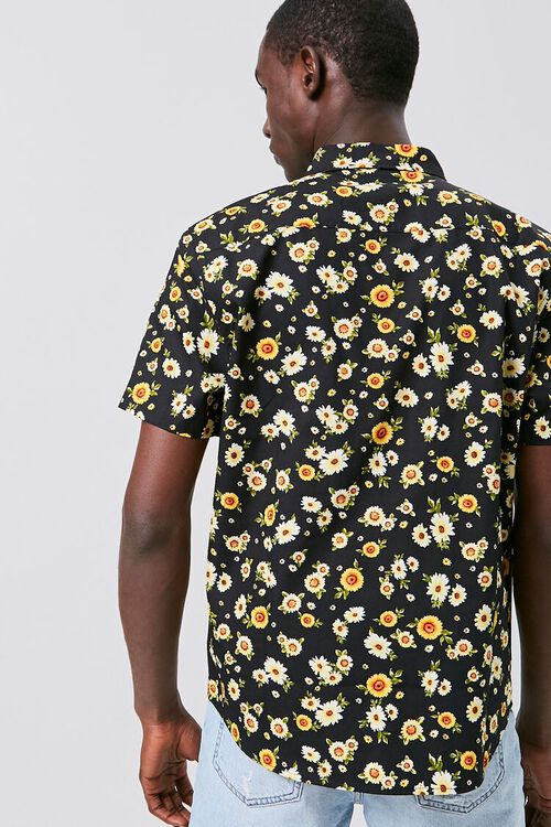 Fitted Daisy Print Shirt, image 3