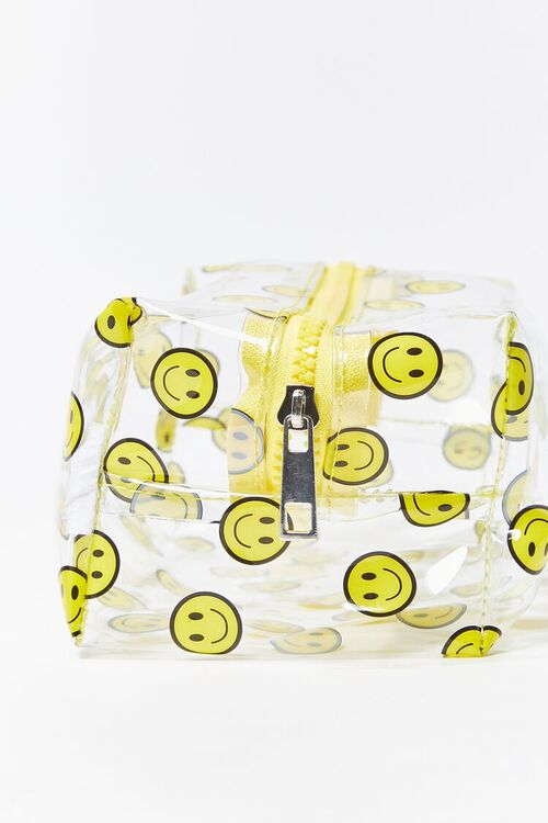 YELLOW/MULTI Smiling Face Print Pouch, image 3