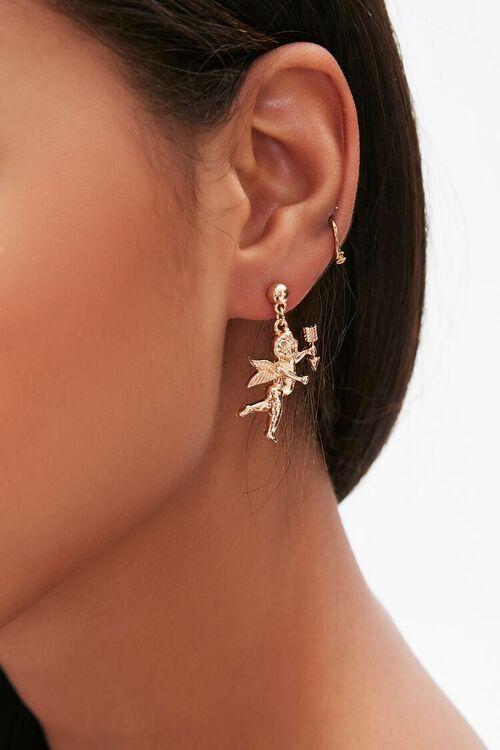Cherub Pendant Drop Earrings, image 1