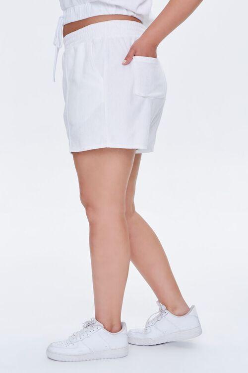 Plus Size Cotton-Blend Shorts, image 3