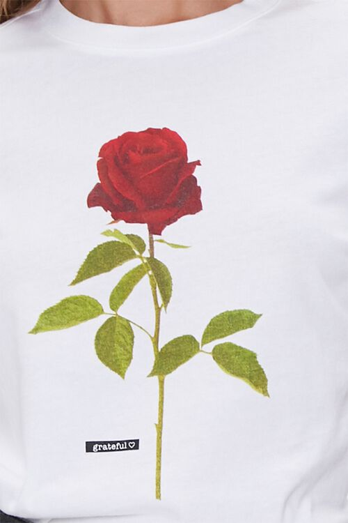 Organic Cotton Rose Graphic Tee, image 5