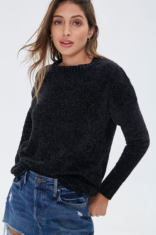Chenille Drop-Sleeve Sweater, image 1