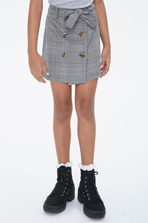 Girls Plaid Button-Front Skirt (Kids), image 2