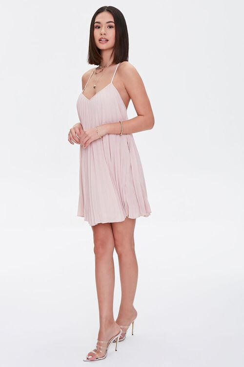 Pleated Mini Shift Dress, image 4