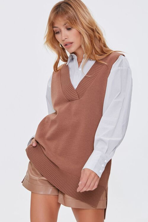 High-Low Sweater Vest, image 1
