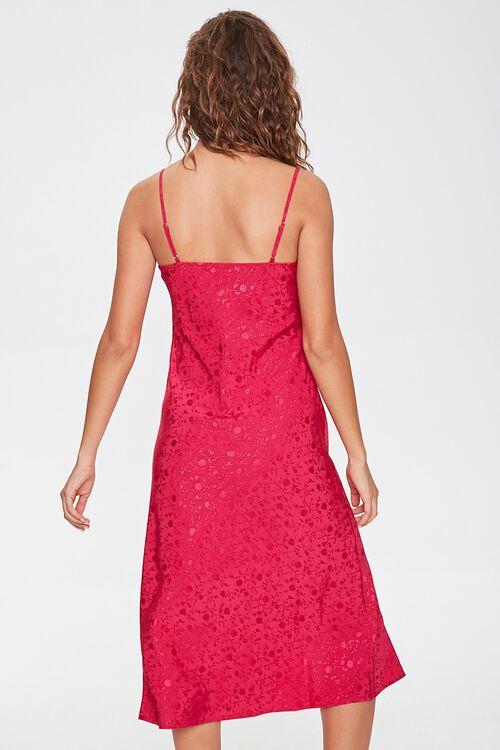 Satin Floral Print Dress, image 3