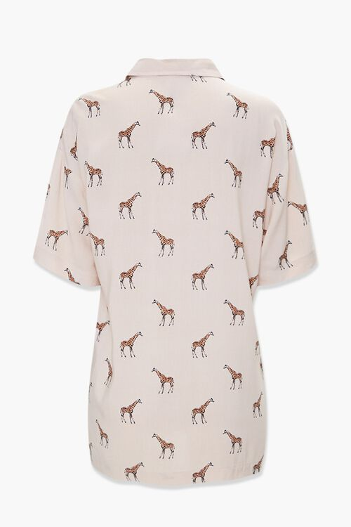 TAUPE/MULTI Giraffe Print Pocket Shirt, image 2