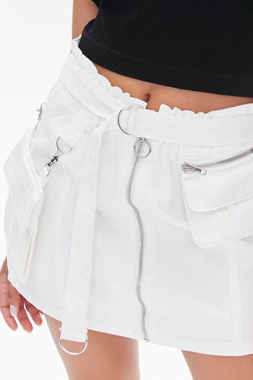 Denim Paperbag Mini Skirt, image 6