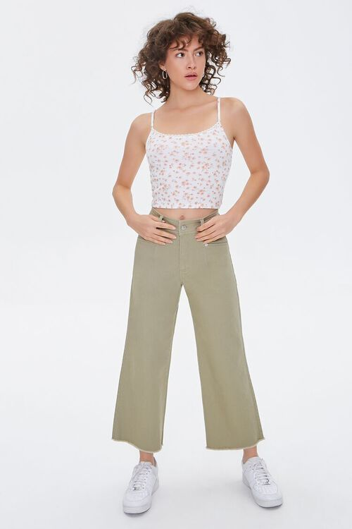 Floral Print Cropped Cami, image 4