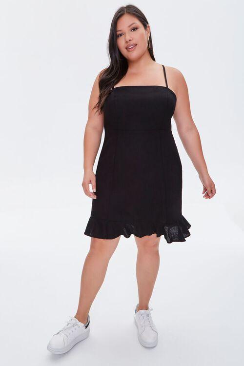 Plus Size Ruffle-Hem Mini Dress, image 4