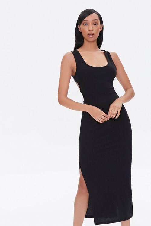 Self-Tie Cutout Midi Dress, image 4