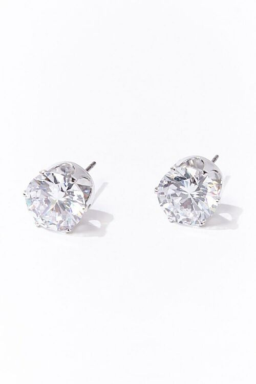 CZ Stone Stud Earrings, image 1