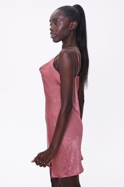 Satin Cowl-Neck Dress, image 2