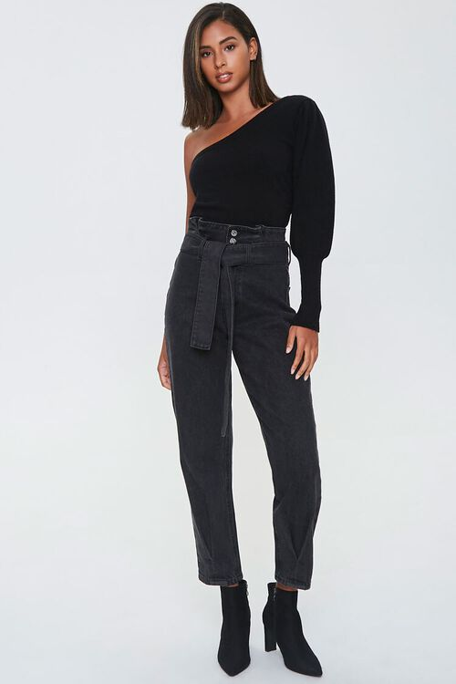 Ribbed One-Shoulder Sweater, image 4