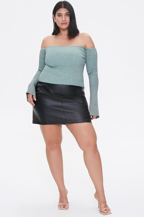 Plus Size Off-the-Shoulder Sweater, image 4