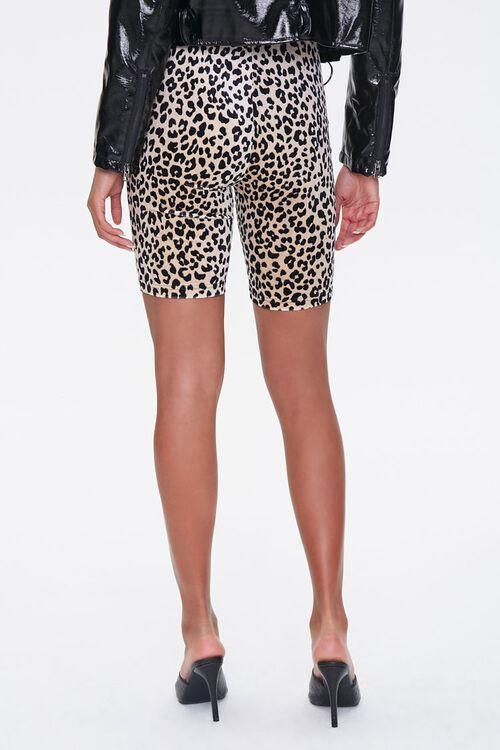BROWN/BLACK Leopard Print Biker Shorts, image 4
