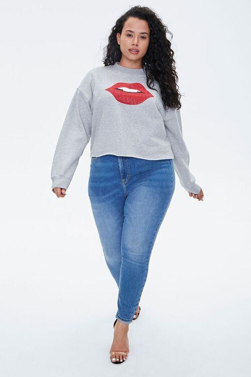 Plus Size Lip Graphic Pullover, image 4