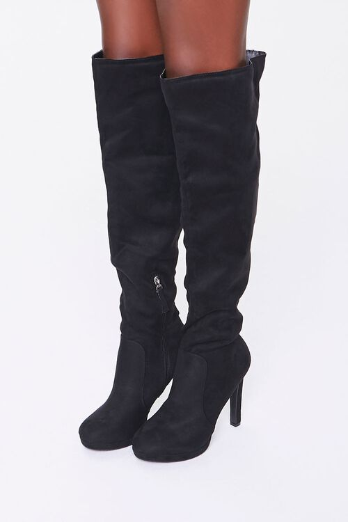 Faux Suede Stiletto Boots, image 1