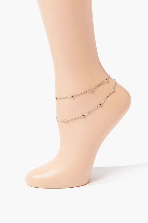 Layered Curb Chain Anklet, image 1