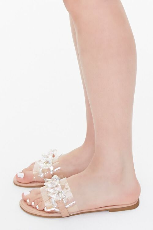 Curb Chain Flat Sandals, image 2