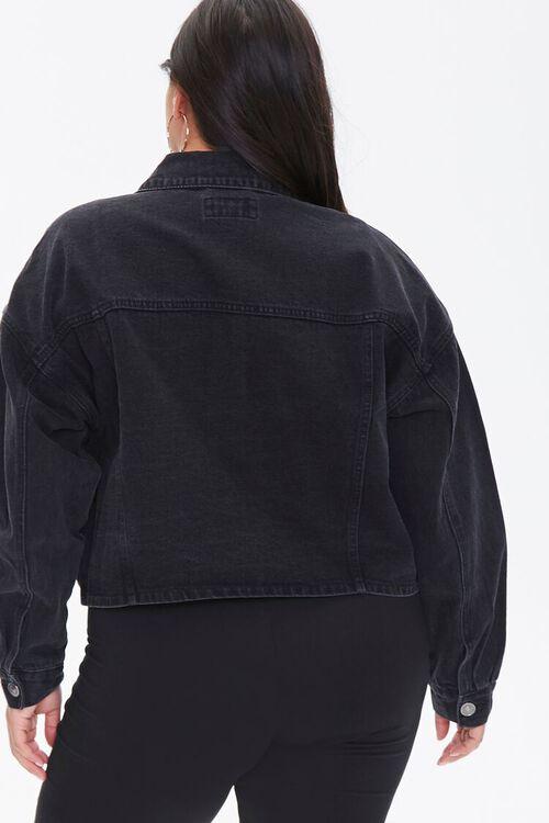 Plus Size Cropped Denim Jacket, image 3
