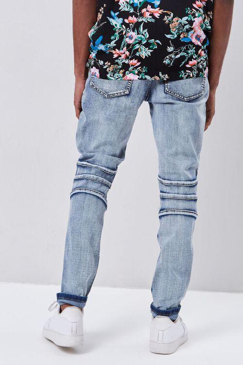 Paneled Distressed Slim-Fit Jeans, image 4