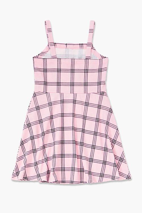 Girls Plaid Fit & Flare Dress (Kids), image 2