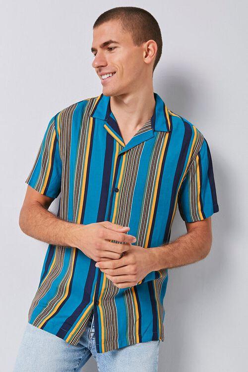 Vertical Striped Print Shirt, image 1