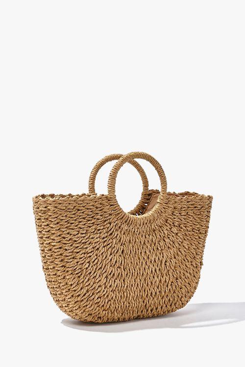 Straw Basketwoven Tote Bag, image 2