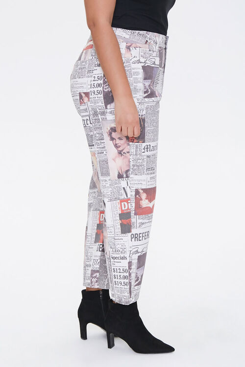 Plus Size Marilyn Monroe Cropped Jeans, image 2