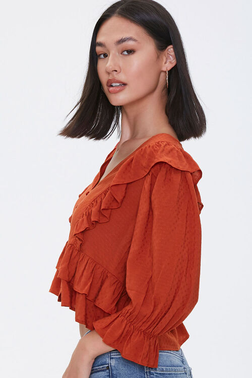 Ruffle-Trim Crop Top, image 2