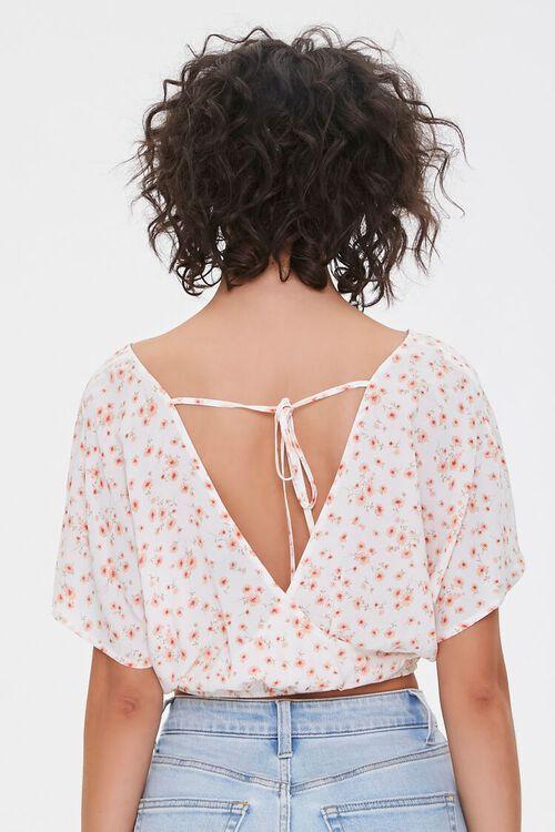 Floral Print Self-Tie Crop Top, image 3
