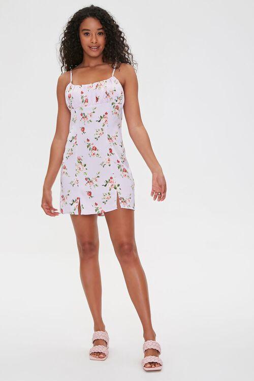 LAVENDER/MULTI Floral Print Cami Mini Dress, image 4