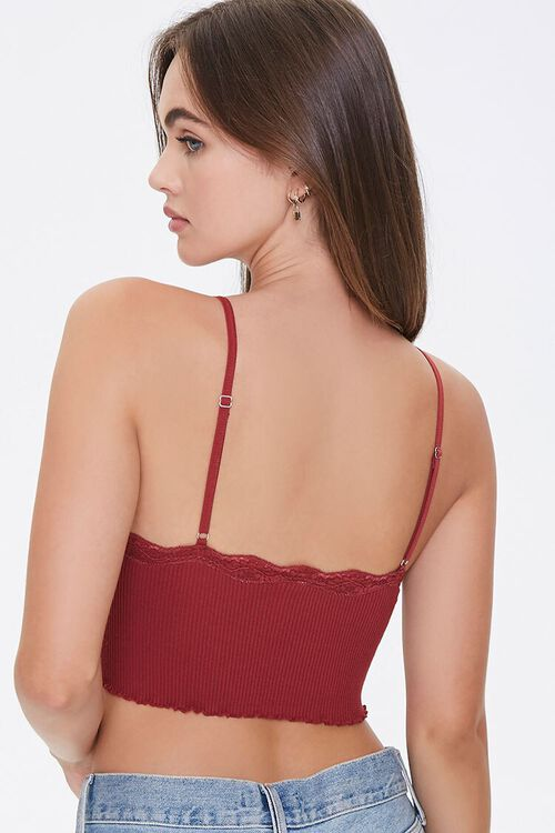 Seamless Lace-Trim Bralette, image 3