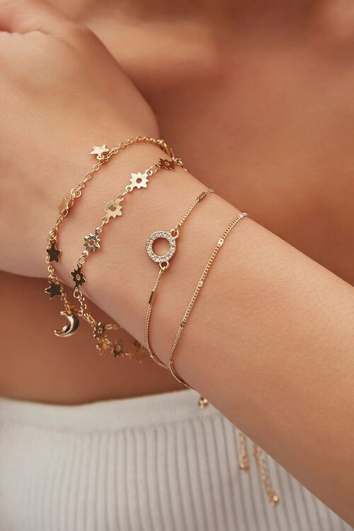 Star & Moon Charm Bracelet Set, image 1