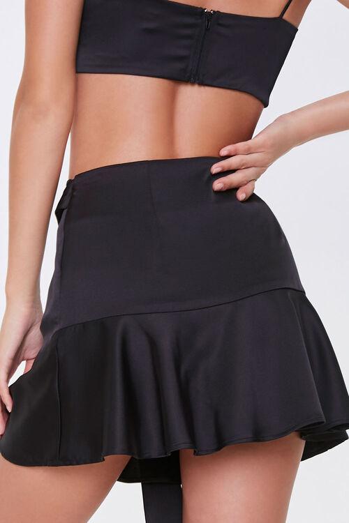 Satin Flounce Mini Skirt, image 4