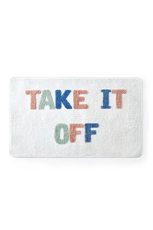 WHITE/MULTI Take it Off Graphic Bath Mat, image 2