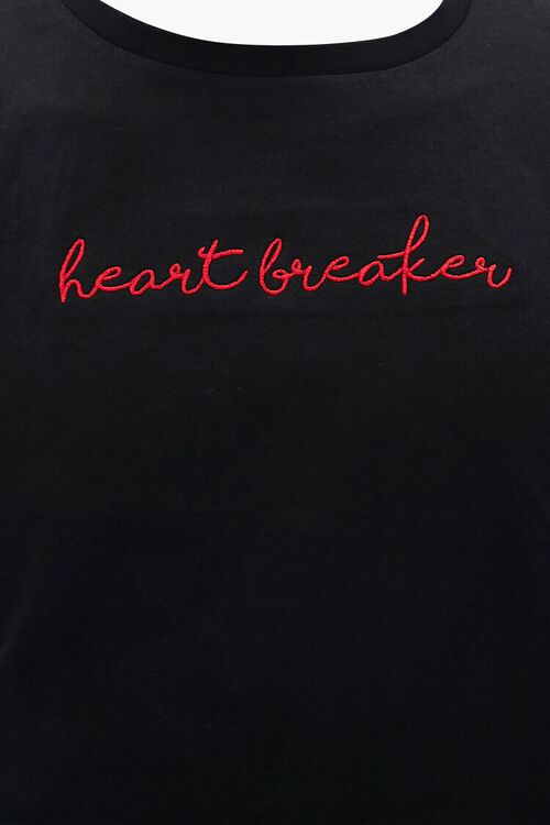 Heartbreaker Embroidered Graphic Tee, image 3