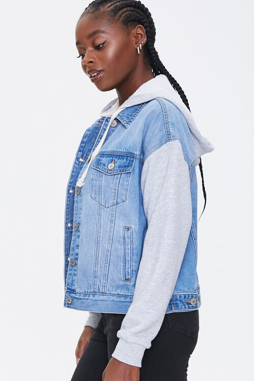 Hooded Denim Combo Jacket, image 2