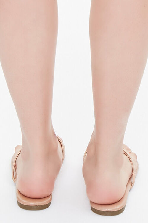 Faux Leather Toe-Thong Sandals, image 3